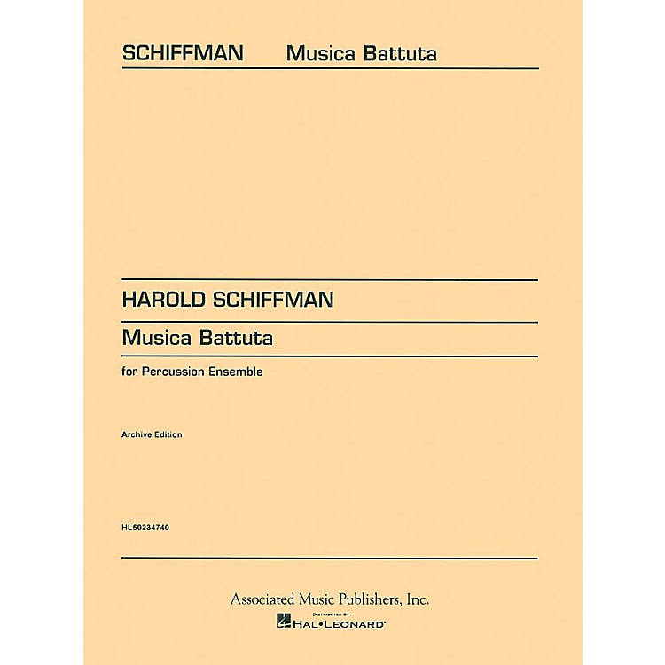 Associated Musica Battuta (Score and Parts) Percussion Series Composed by Harold Schiffman