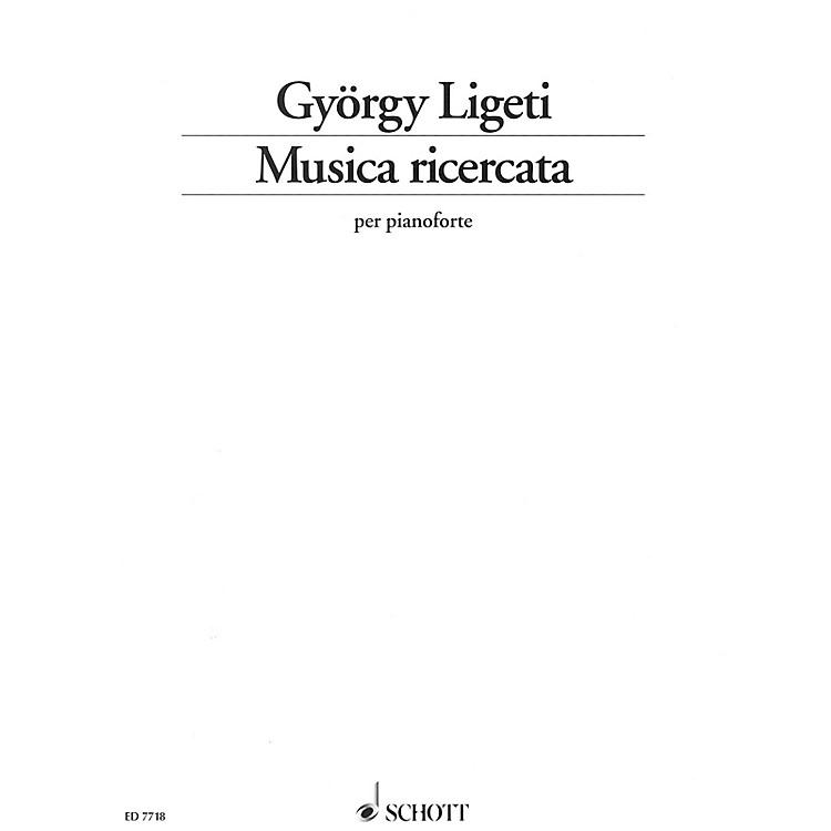SchottMusica ricercata Schott Series Softcover