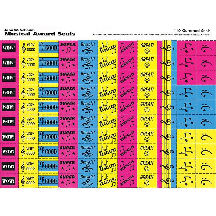 SCHAUMMusical Award Seals (Schaum Teaching Aids) Educational Piano Series Softcover