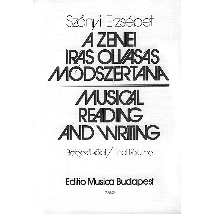 Editio Musica Budapest Musical Reading And Writing (Teacher's Book (Lessons 101-130)) EMB Series Softcover by Erzsébet Szönyi