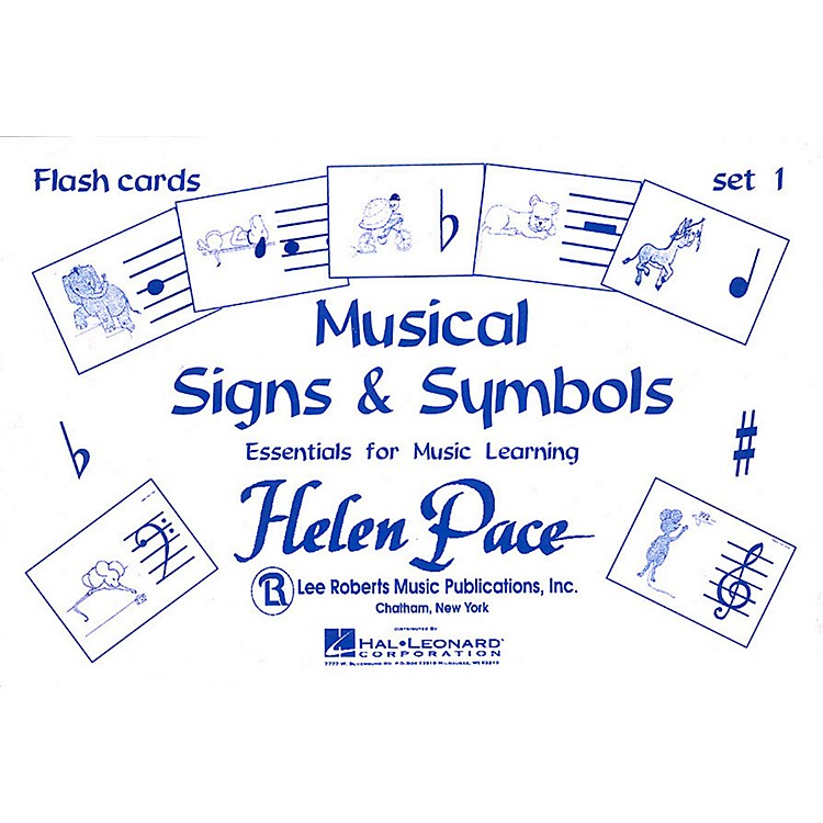 Hal Leonard Musical Signs And Symbols Set I 24 Cards 48 Sides Flash Cards Moppet