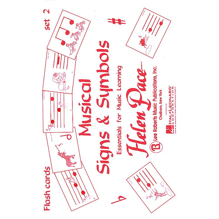 Lee Roberts Musical Signs And Symbols Set Ii 24 Cards 48 Sides Moppet Flash Cards Pace Piano Education by Robert Pace