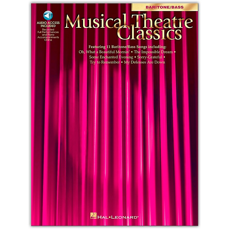 Hal Leonard Musical Theatre Classics for Baritone/Bass (Book/Online Audio)