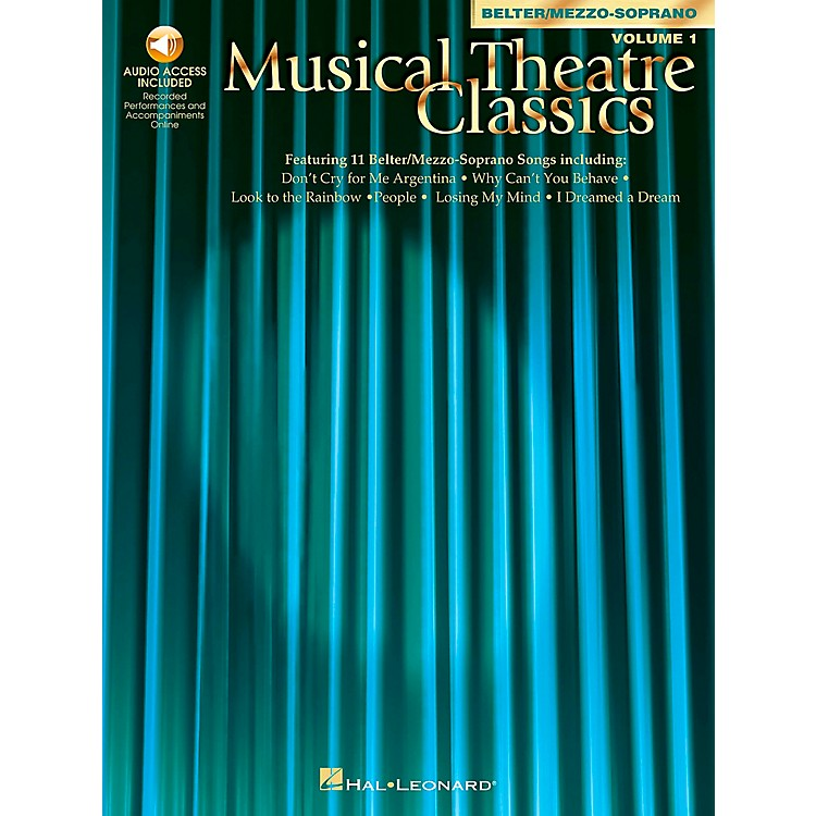 Hal LeonardMusical Theatre Classics for Mezzo-Sporano / Belter Volume 1 Book/CD