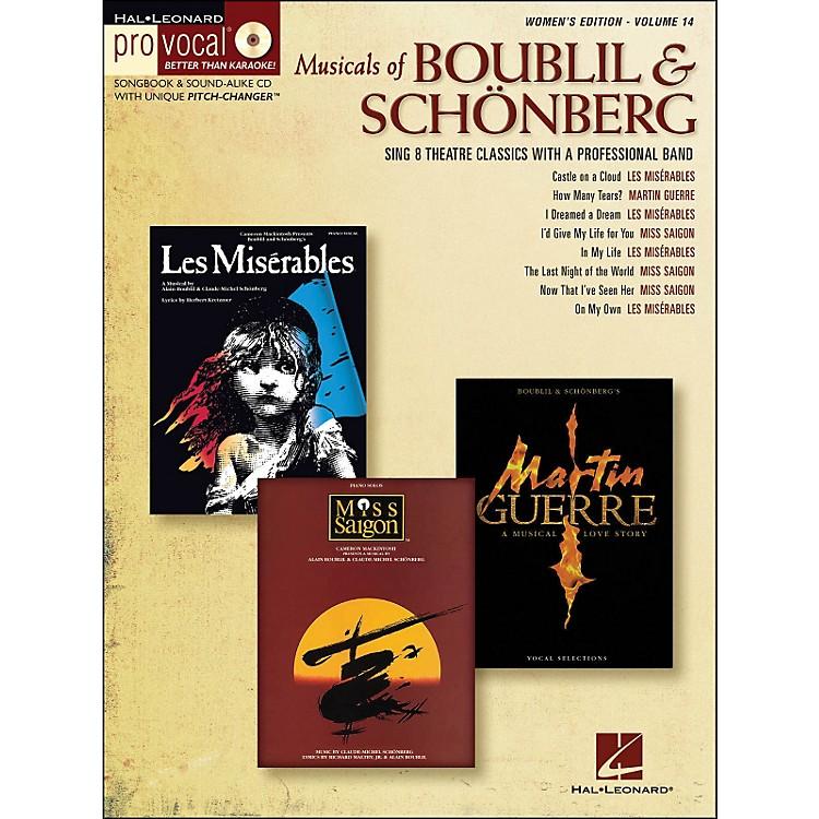 Hal LeonardMusicals Of Boublil & Schonberg - Pro Vocal Series Women's Edition Volume 14 Book/CD