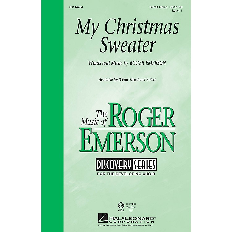Hal Leonard My Christmas Sweater (Discovery Level 1) 3-Part Mixed composed by Roger Emerson