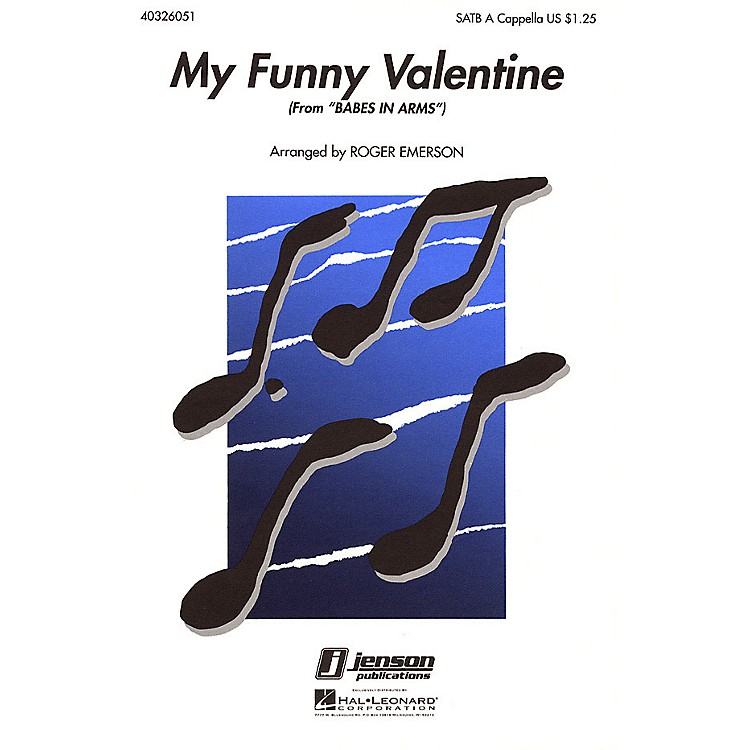 Hal LeonardMy Funny Valentine (from Babes in Arms) SATB a cappella arranged by Roger Emerson