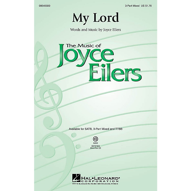 Hal LeonardMy Lord 3-Part Mixed composed by Joyce Eilers