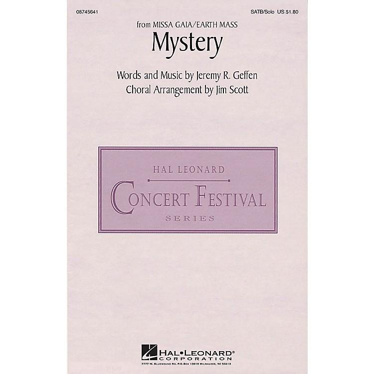 Hal LeonardMystery (from Missa Gaia/Earth Mass) SATB Chorus and Solo arranged by Jim Scott