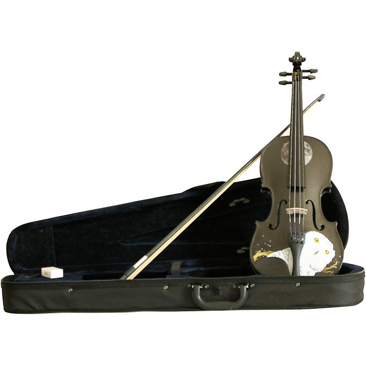 Rozanna's ViolinsMystic Owl Black Glitter Series Violin Outfit4/4