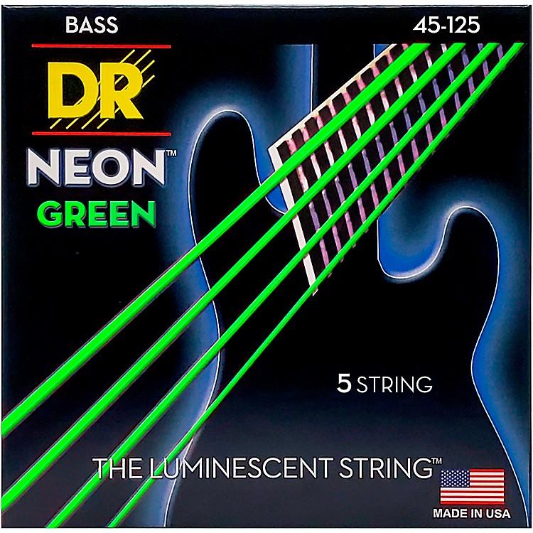DR StringsNEON Hi-Def Green Bass SuperStrings Medium 5-String