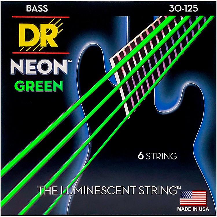 DR StringsNEON Hi-Def Green Bass SuperStrings Medium 6-String