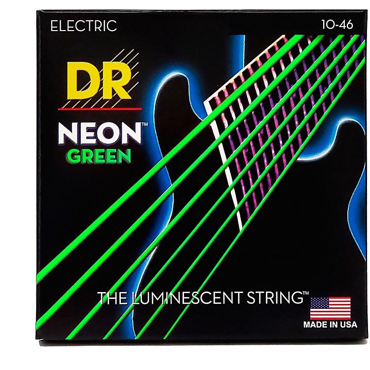 DR StringsNEON Hi-Def Green SuperStrings Medium Electric Guitar Strings