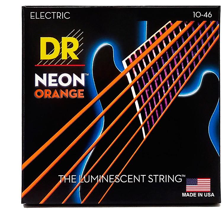 DR StringsNEON Hi-Def Orange SuperStrings Medium Electric Guitar Strings