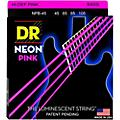 DR Strings NEON Hi-Def Pink Bass SuperStrings Medium 4-String