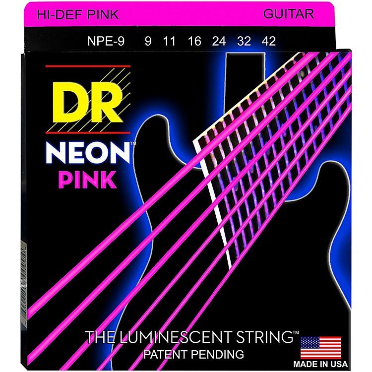 DR StringsNEON Hi-Def Pink SuperStrings Light Electric Guitar Strings
