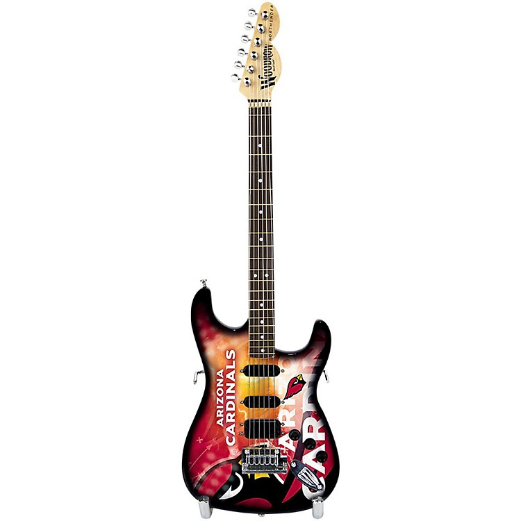 Woodrow GuitarsNFL 10-In Mini Guitar CollectibleArizona Cardinals