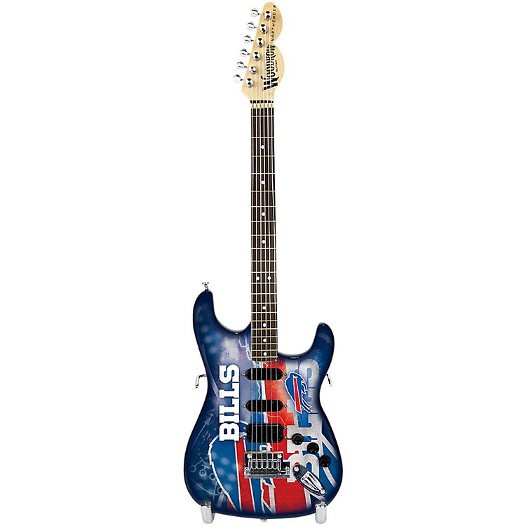 Woodrow Guitars NFL 10-In Mini Guitar Collectible Buffalo Bills
