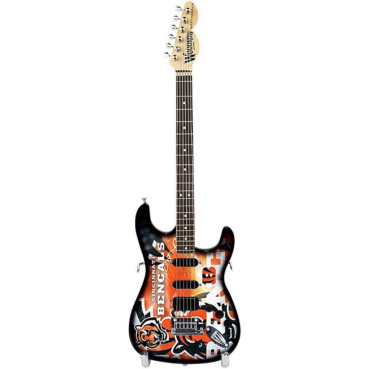Woodrow GuitarsNFL 10-In Mini Guitar CollectibleCincinnati Bengals