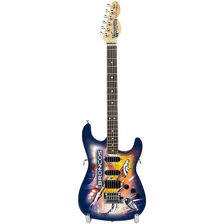 Woodrow GuitarsNFL 10-In Mini Guitar CollectibleDenver Broncos