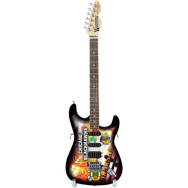 Woodrow GuitarsNHL 10 Inch Mini Guitar CollectibleChicago Blackhawks