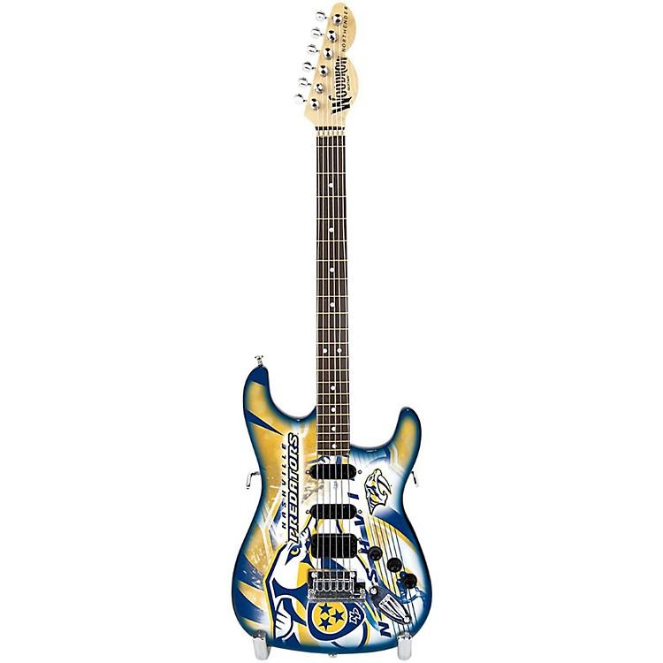 Woodrow GuitarsNHL 10 Inch Mini Guitar CollectibleNashville Predators