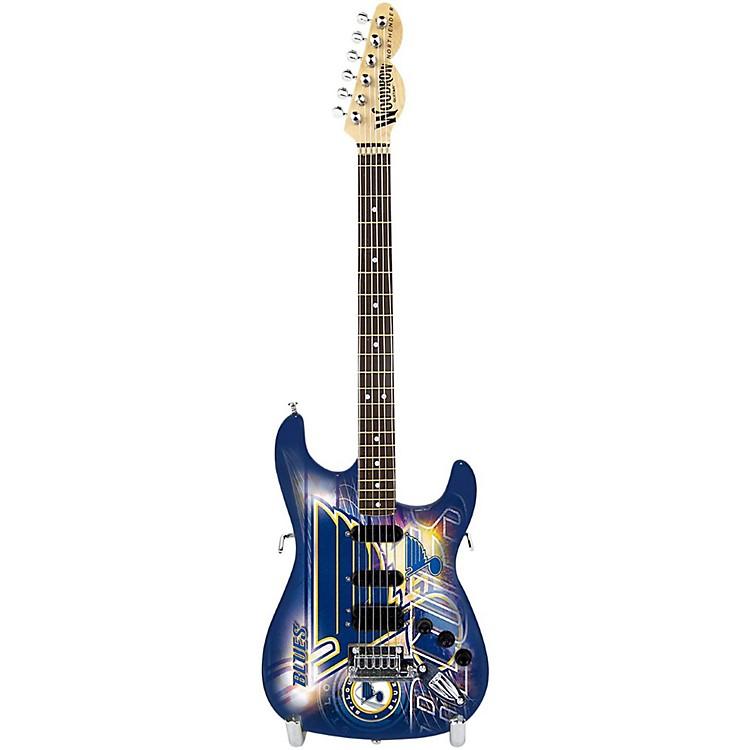 Woodrow GuitarsNHL 10 Inch Mini Guitar CollectibleSt. Louis Blues