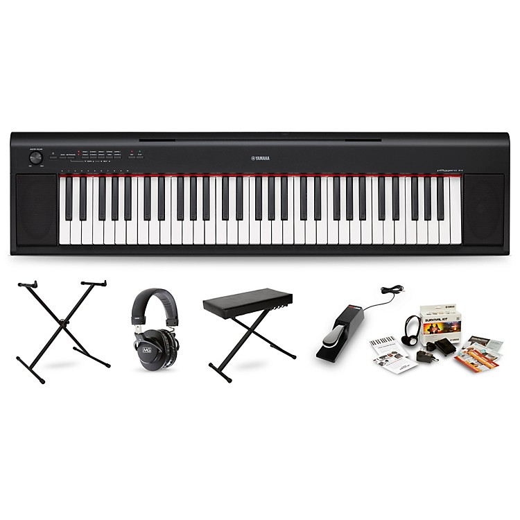 YamahaNP-12 Portable Keyboard PackageBlack
