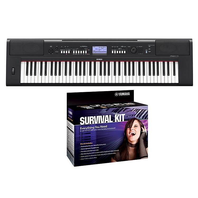 yamaha npv60 76 key piaggero portable digital piano with yamaha d2 survival kit music123. Black Bedroom Furniture Sets. Home Design Ideas