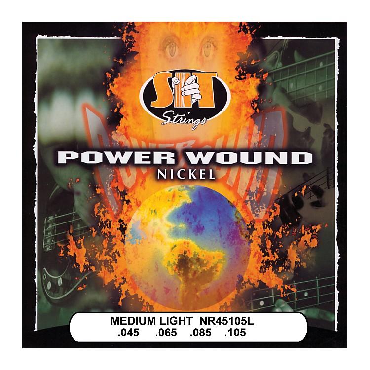 SIT StringsNR45105L Medium Light Power Wound Nickel Bass Strings