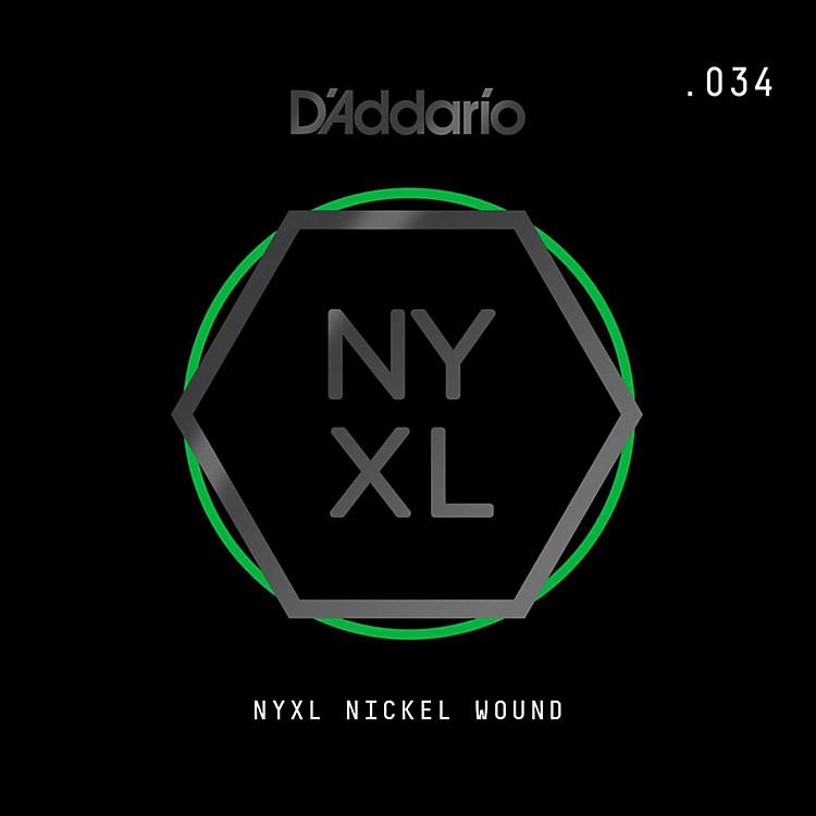 D'AddarioNYNW034 NYXL Nickel Wound Electric Guitar Single String, .034