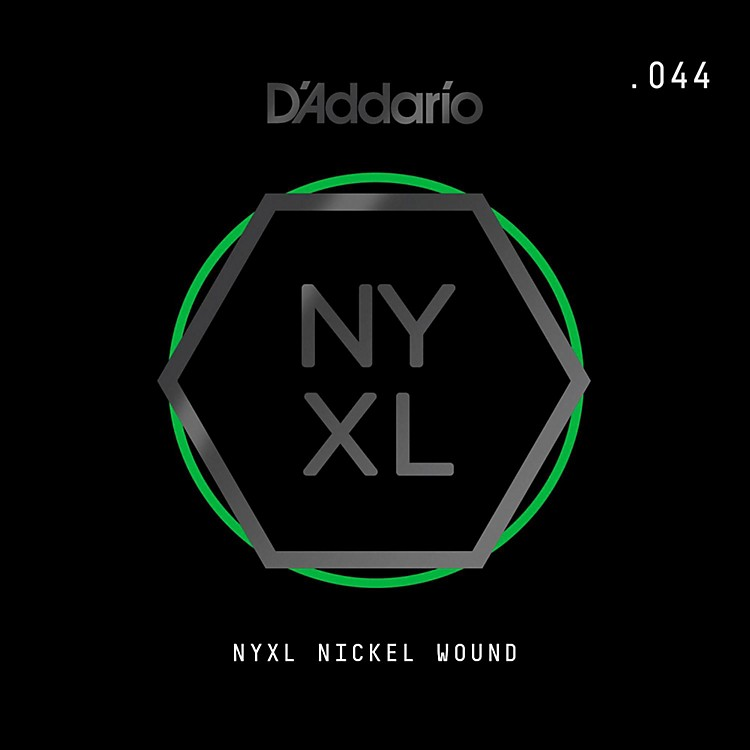 D'Addario NYNW044 NYXL Nickel Wound Electric Guitar Single String, .044