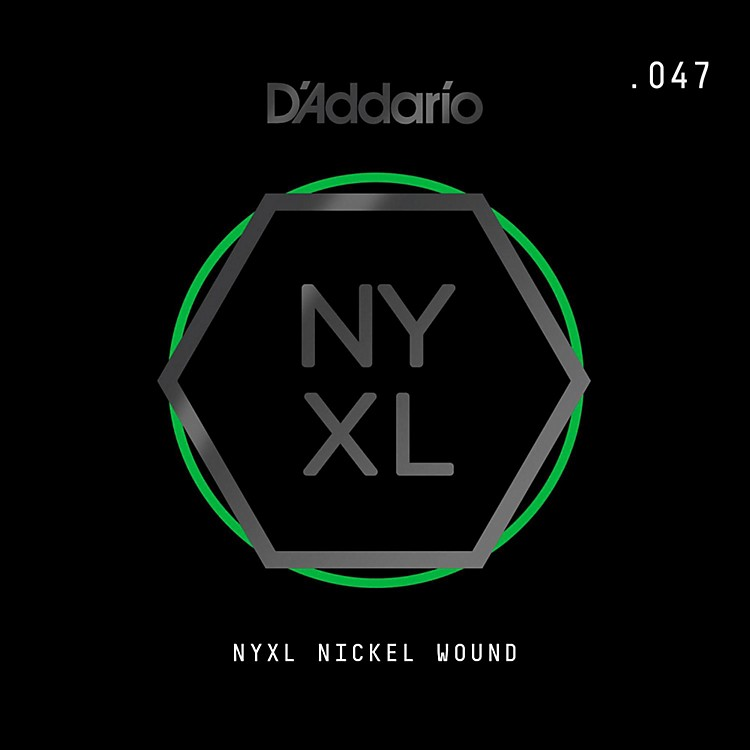 D'Addario NYNW047 NYXL Nickel Wound Electric Guitar Single String, .047