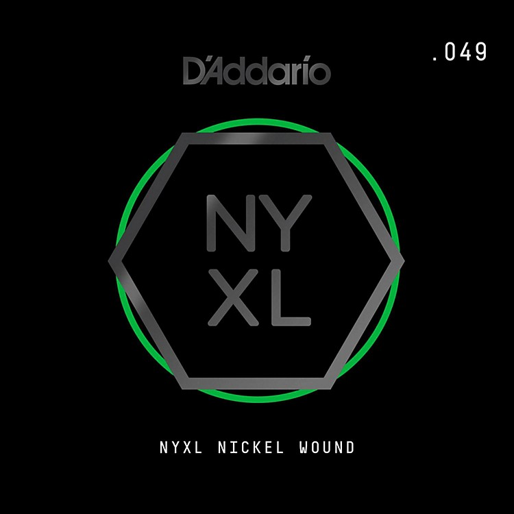 D'Addario NYNW049 NYXL Nickel Wound Electric Guitar Single String, .049