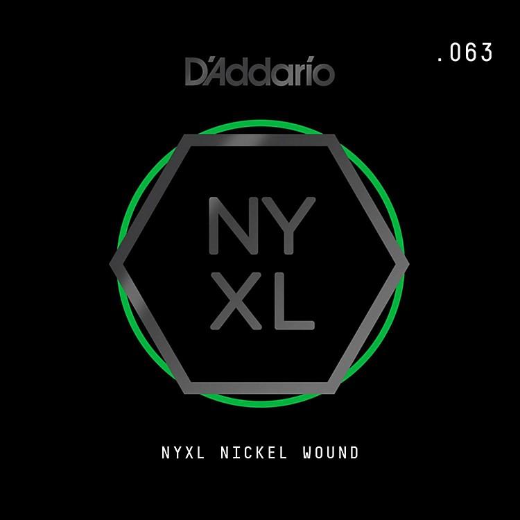 D'AddarioNYNW063 NYXL Nickel Wound Electric Guitar Single String, .063