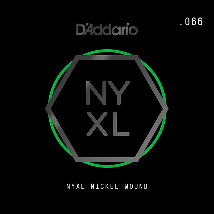 D'Addario NYNW066 NYXL Nickel Wound Electric Guitar Single String, .066
