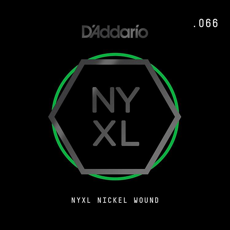 D'AddarioNYNW066 NYXL Nickel Wound Electric Guitar Single String, .066