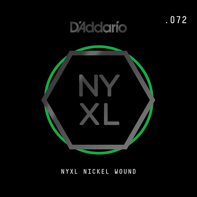 D'AddarioNYNW072 NYXL Nickel Wound Electric Guitar Single String, .072