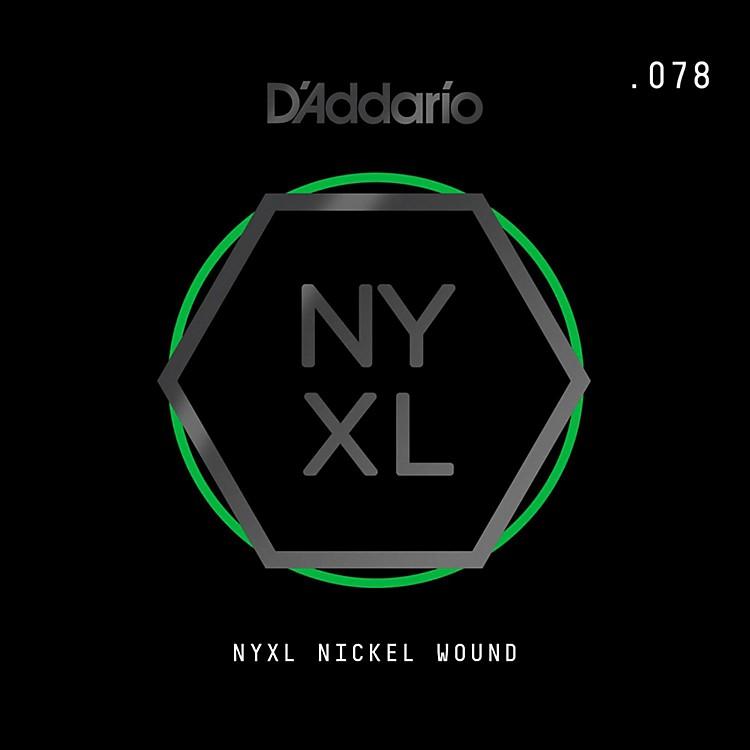 D'AddarioNYNW078 NYXL Nickel Wound Electric Guitar Single String, .078