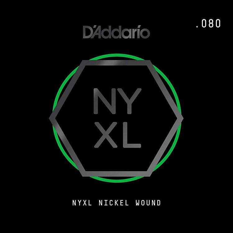 D'AddarioNYNW080 NYXL Nickel Wound Electric Guitar Single String, .080