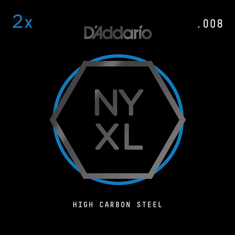 D'AddarioNYPL008 Plain Steel Guitar Strings 2-Pack, .008