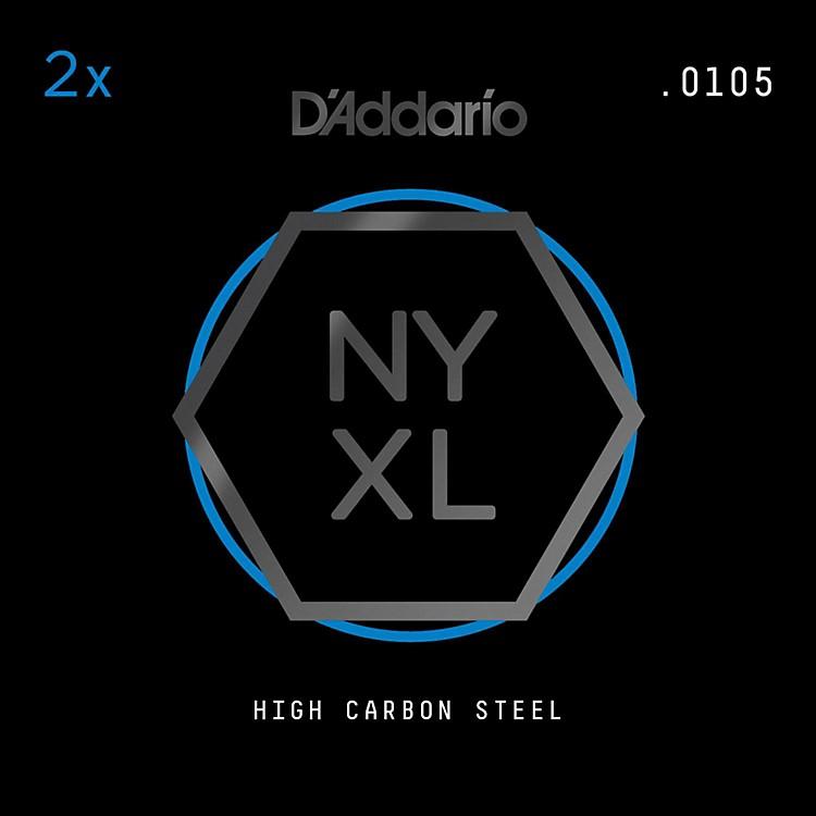 D'AddarioNYPL0105 Plain Steel Guitar Strings 2-Pack, .0105