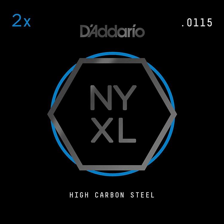 D'AddarioNYPL0115 Plain Steel Guitar Strings 2-Pack, .0115