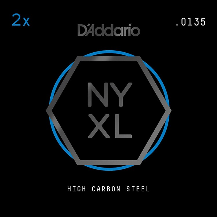 D'AddarioNYPL0135 Plain Steel Guitar Strings 2-Pack, .0135