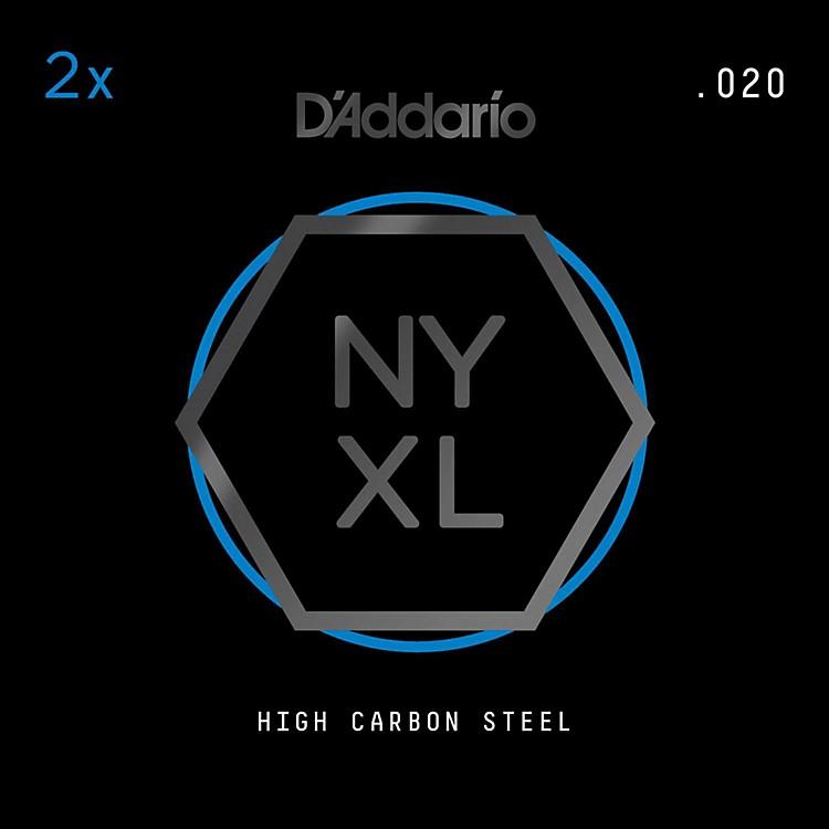 D'AddarioNYPL020 Plain Steel Guitar Strings 2-Pack, .020