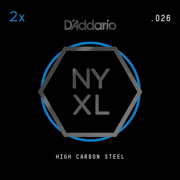D'AddarioNYPL026 Plain Steel Guitar Strings 2-Pack, .026