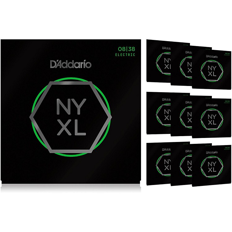 D'Addario NYXL0838 Extra Super Light 10-Pack Electric Guitar Strings