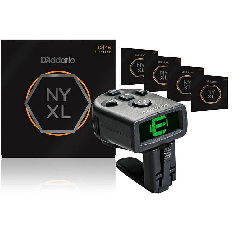 D'Addario NYXL0838 Extra Super Light Electric Guitar Strings 5-Pack with FREE NS Micro Headstock Tuner