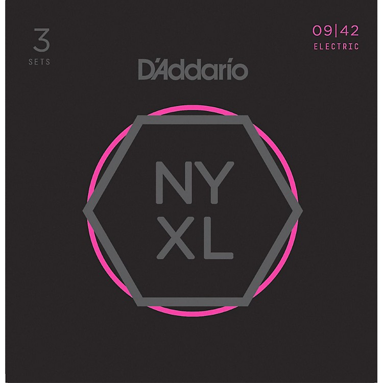 D'AddarioNYXL0942 Super-Light 3-Pack Electric Guitar Strings
