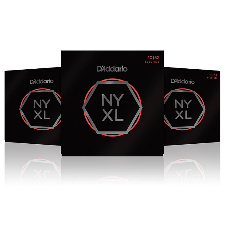 D'Addario NYXL1052 Light Top/Heavy Bottom 3-Pack Electric Guitar Strings
